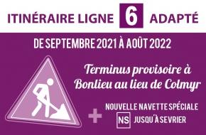 Itinéraie adapté - Ligne 6 - Travaux Pont Albert Lebrun
