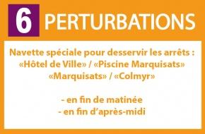 Perturbations Ligne 6 - Navette spéciale