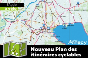 Plan itinéraires cyclables Grand Annecy