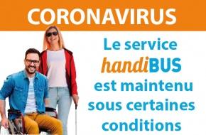 Coronavirus : service Handibus