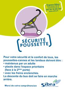 Affiche securite poussette