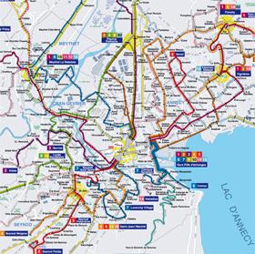 plan du réseau Sibra 2011