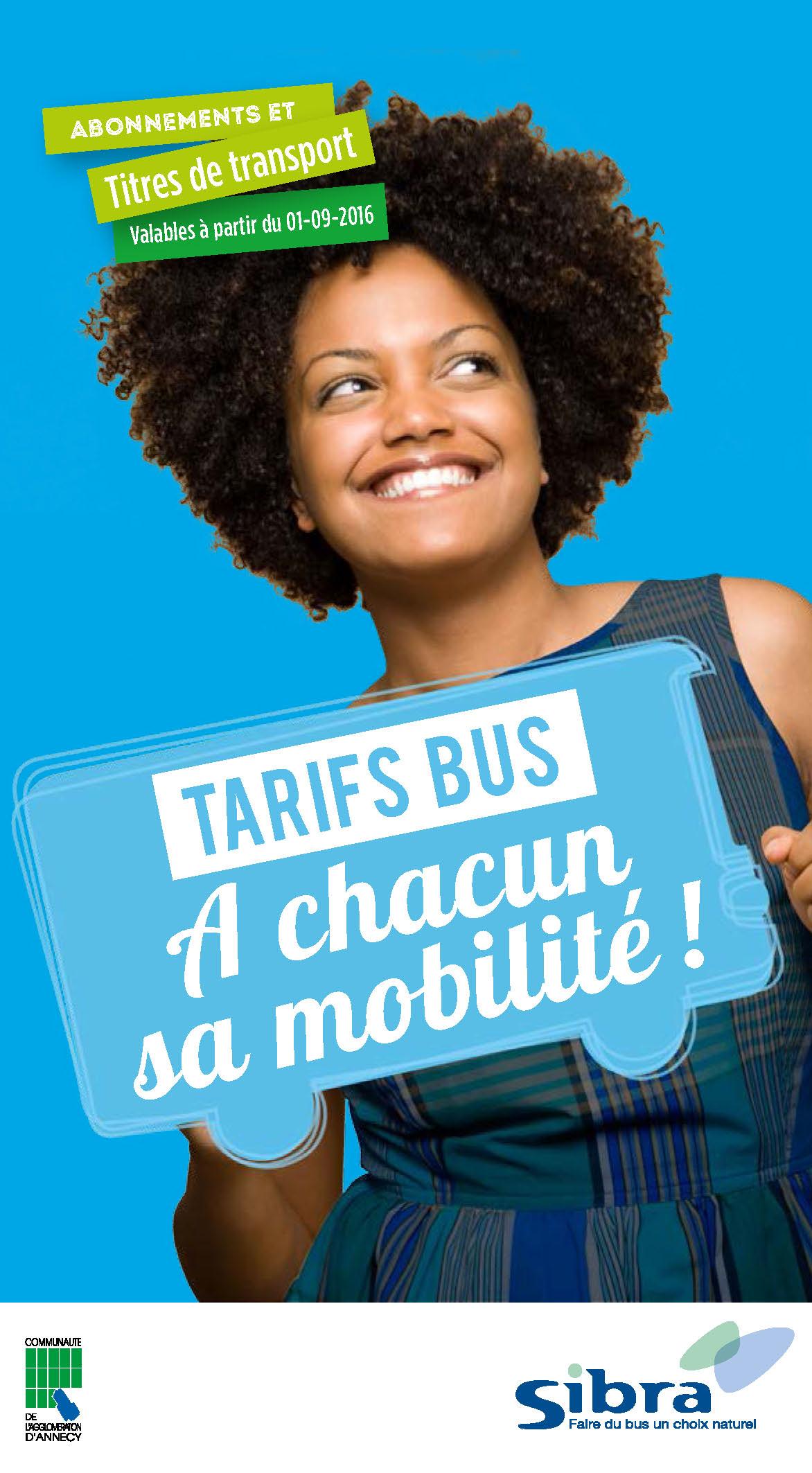 Tarifs 2016-2017