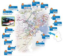 carte des 16 lignes interurbaines de l'agglomération d'Annecy
