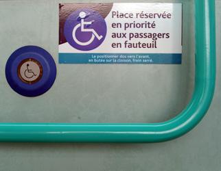 Bouton de demande d'arrêt du bus