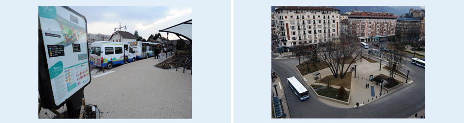 Les pôles d'échange permettent aux passagers de changer facilement de bus