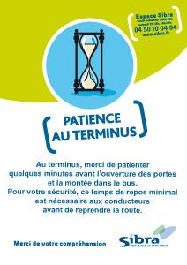 Affiche patience au terminus