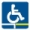 2eme pictogramme pour les personnes à mobilité réduite
