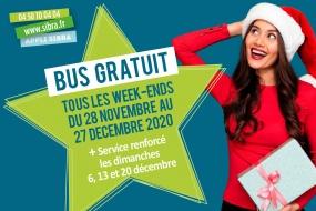 Bus gratuit - Week-ends de Noël 2020