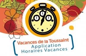 Horaires vacances de la Toussaint - 2021