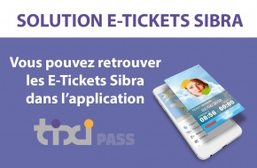 Solution E-Tickets Sibra : application Tixipass