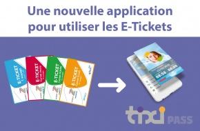 Applicaton Tixipass : utilisation des E-Tickets Sibra