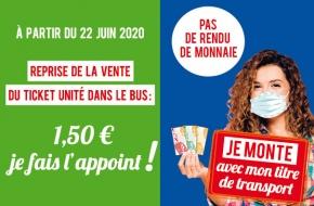 Lundi 22 Juin - Reprise vente ticket unité