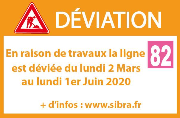 Déviation Ligne 82