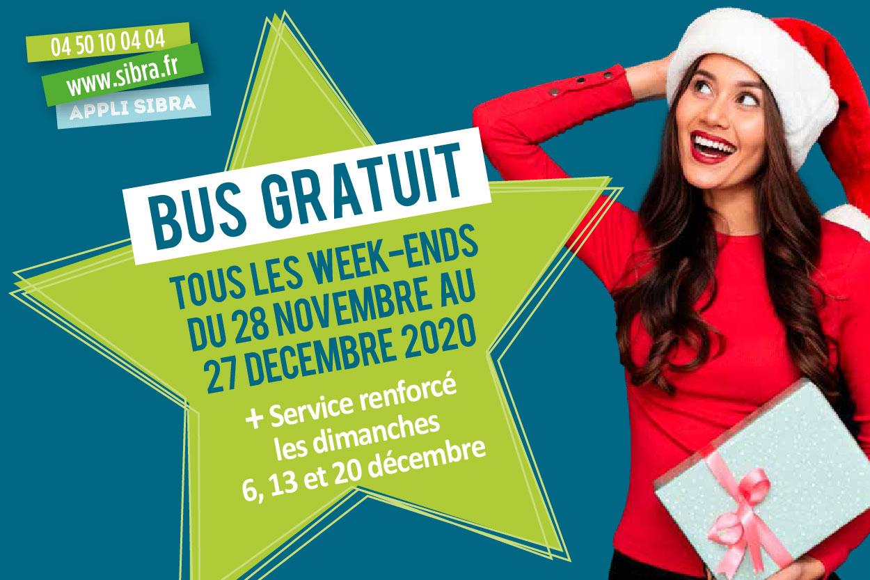 Week-Ends de décembre - Bus gratuit 2020