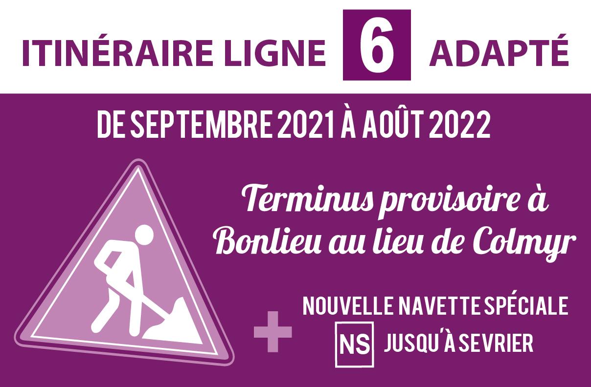 Itinéraire adapté ligne 6 - Travaux Pont Albert Lebrun
