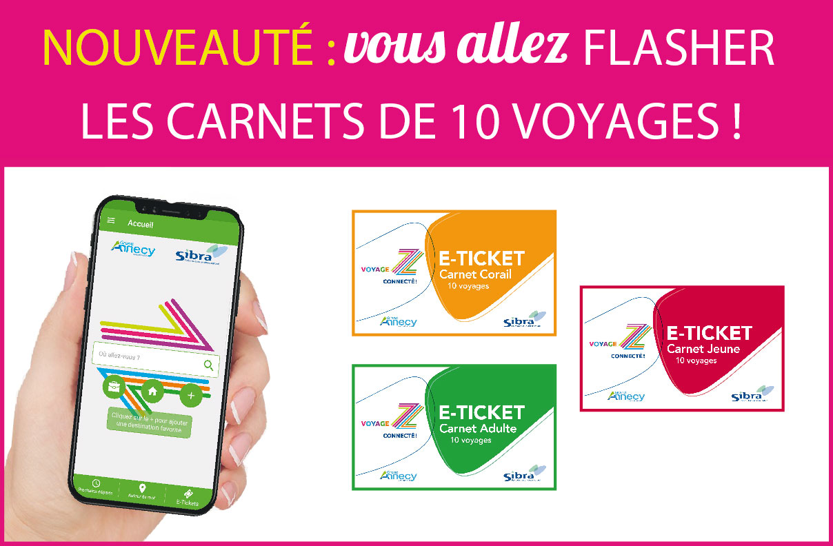 Carnets 10 voyages E-Ticket