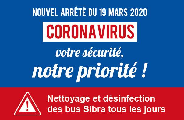 Coronavirus : bus désinfectés