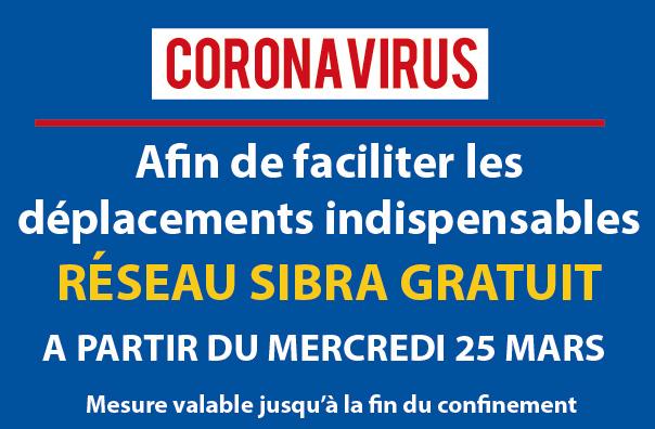 Mercredi 25 mars : Réseau Sibra gratuit