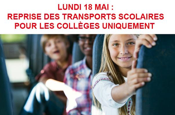 Lundi 18 Mai : transports scolaires