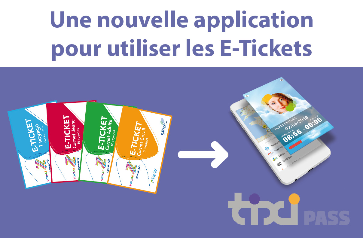 Application Tixipass - Utilisation des E-Tickets Sibra