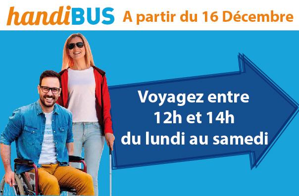 Nouvelle plage horaire - Service Handibus