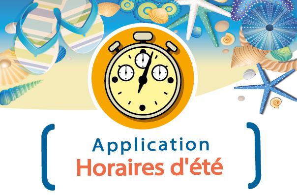 Application horaires vacances été 2021