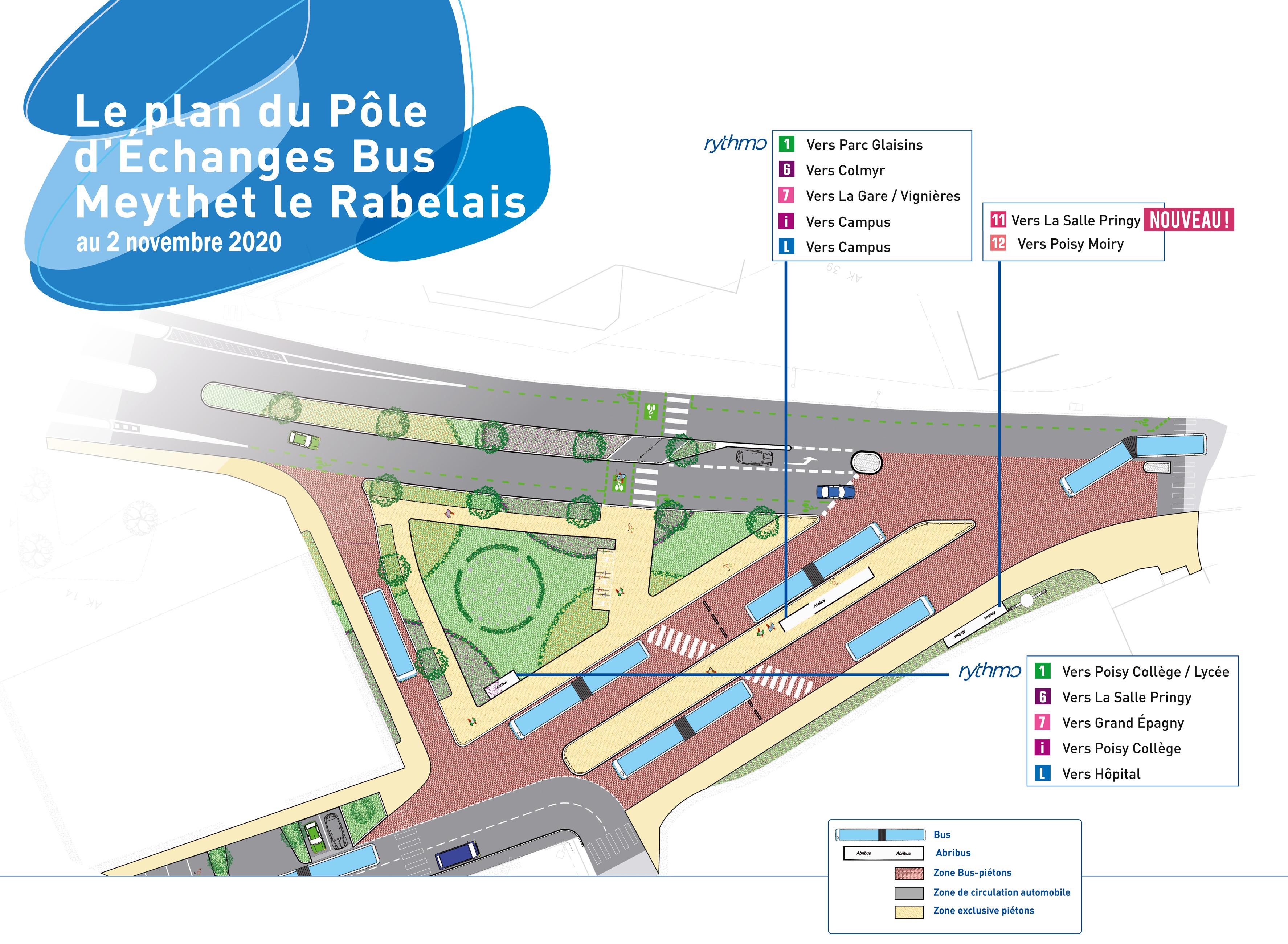 02/11/2020 - Plan pôle d'échanges Meythet-le-Rabelais