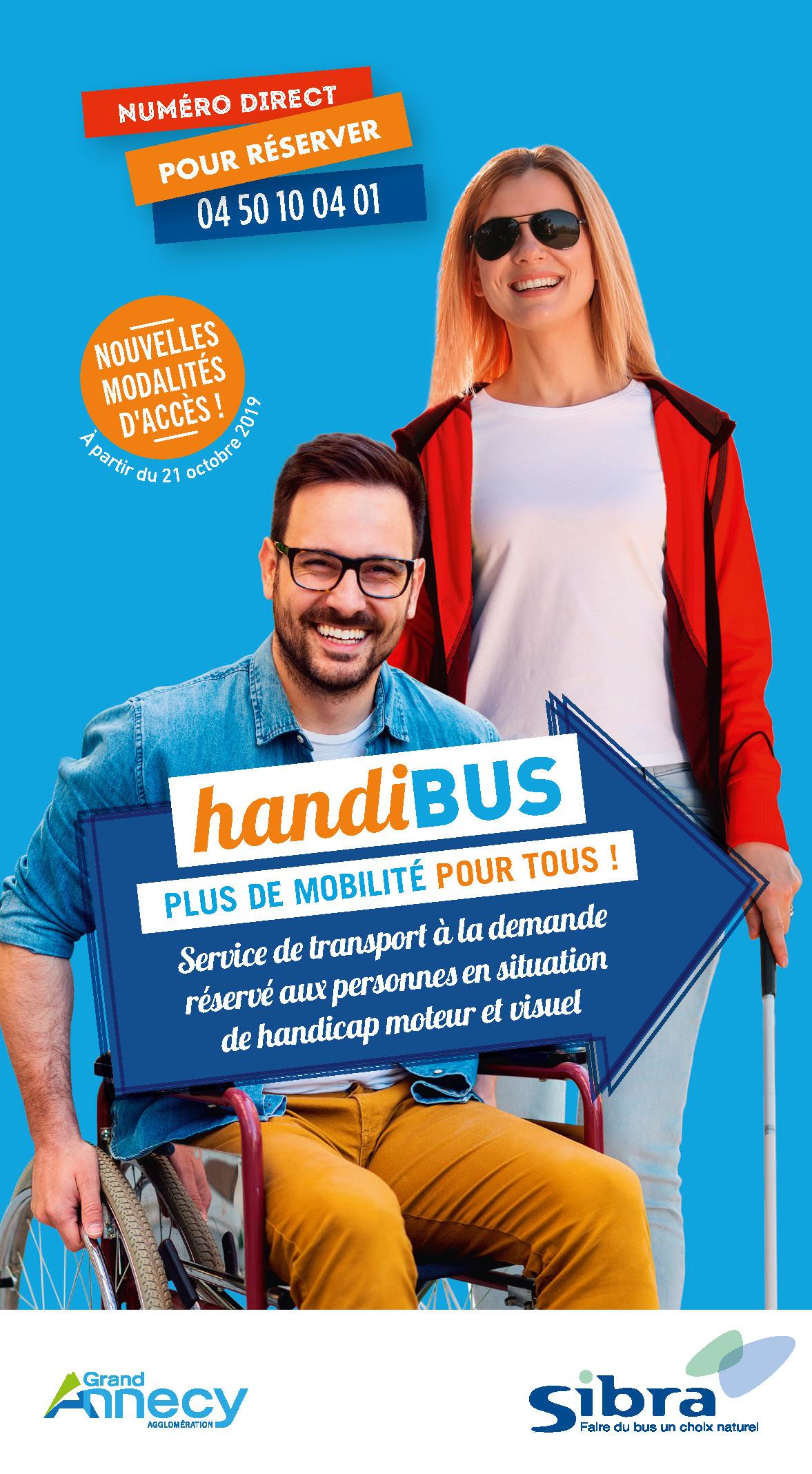 Couverture dépliant Handibus - Octobre 2019