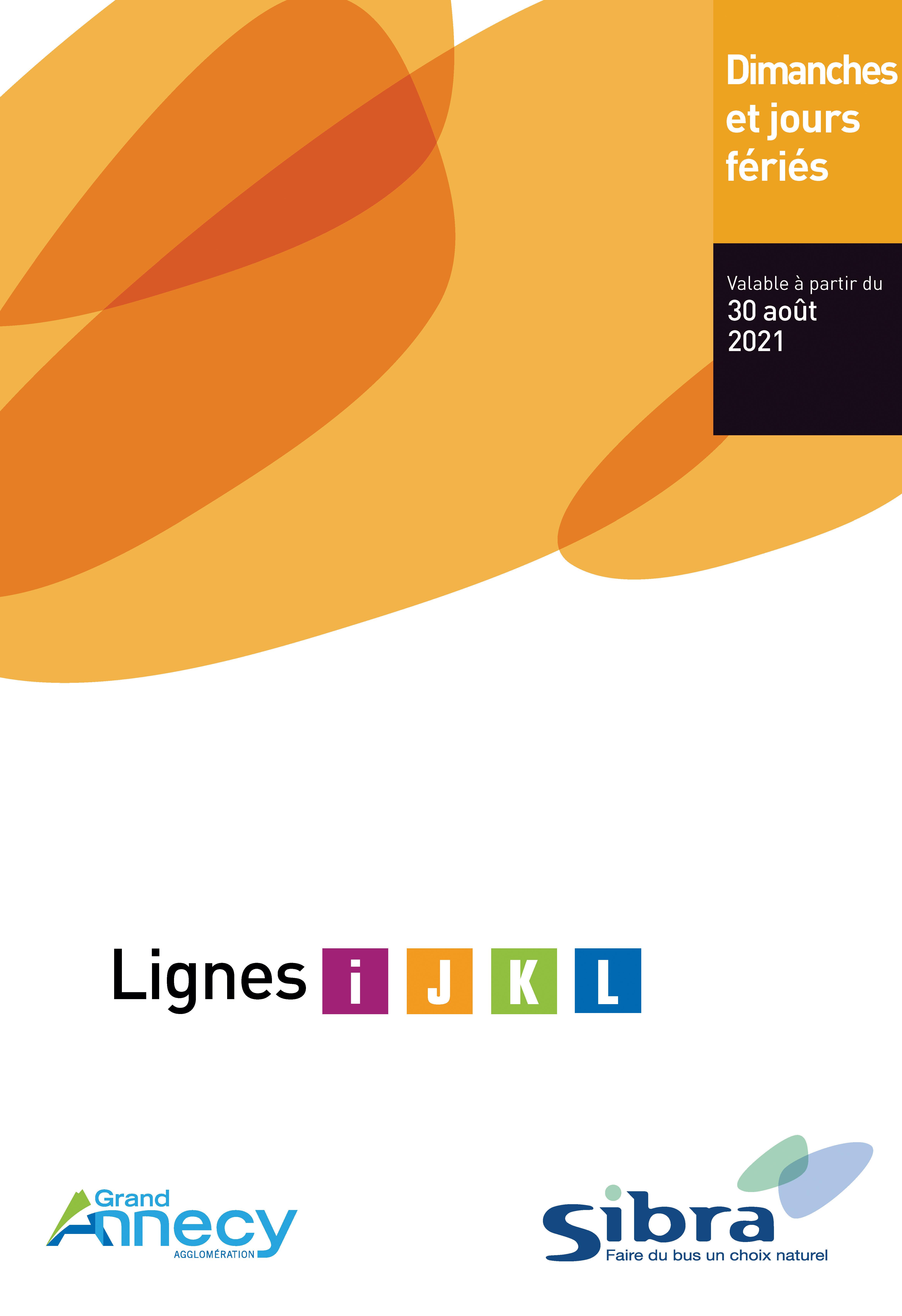 Couverture Fiche Horaire Lignes Dimanche - 2021