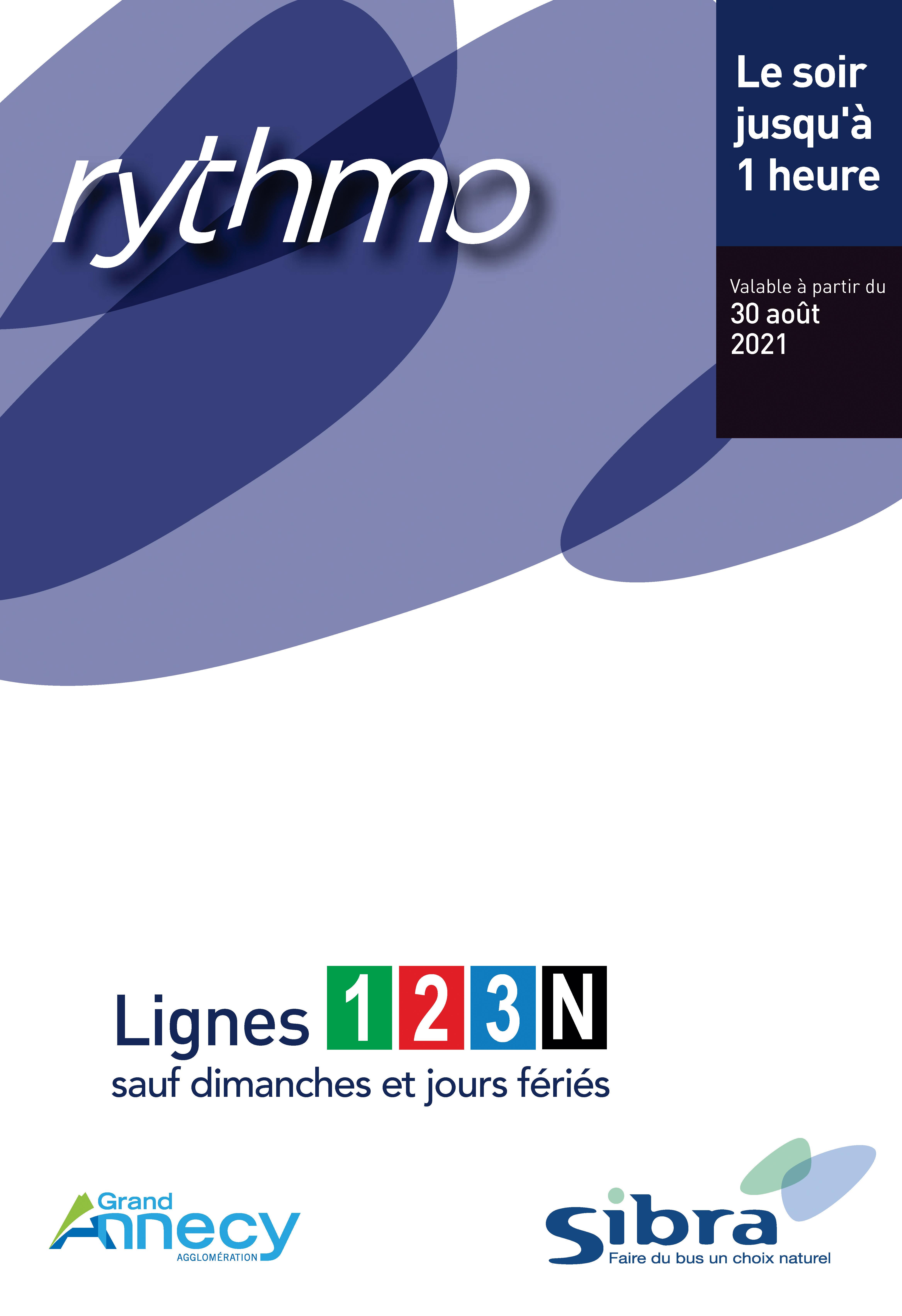 Couverture Fiche Horaire Lignes Nuit - 2021
