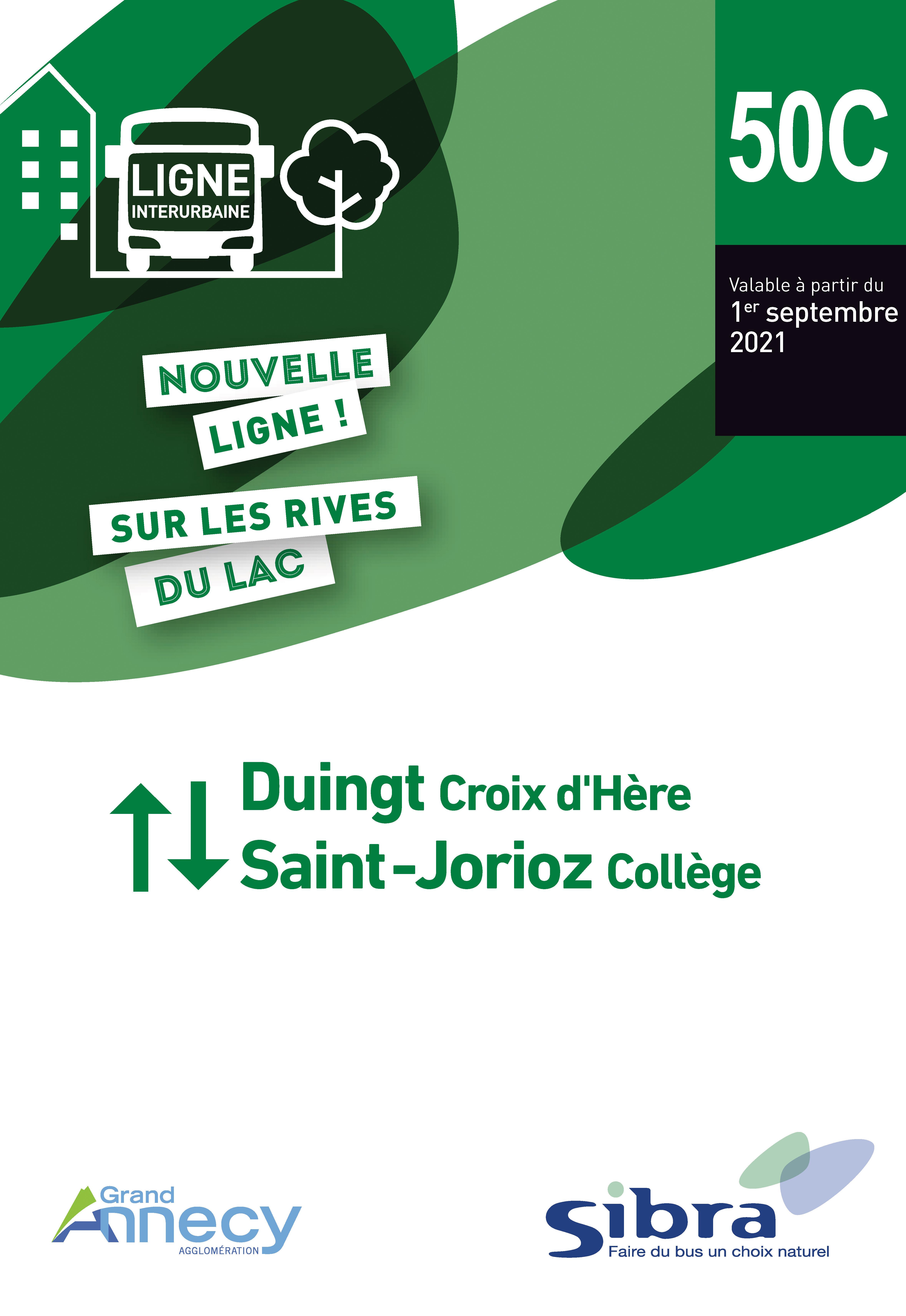 Couverture Fiche Horaire Ligne 50C - Août 2021