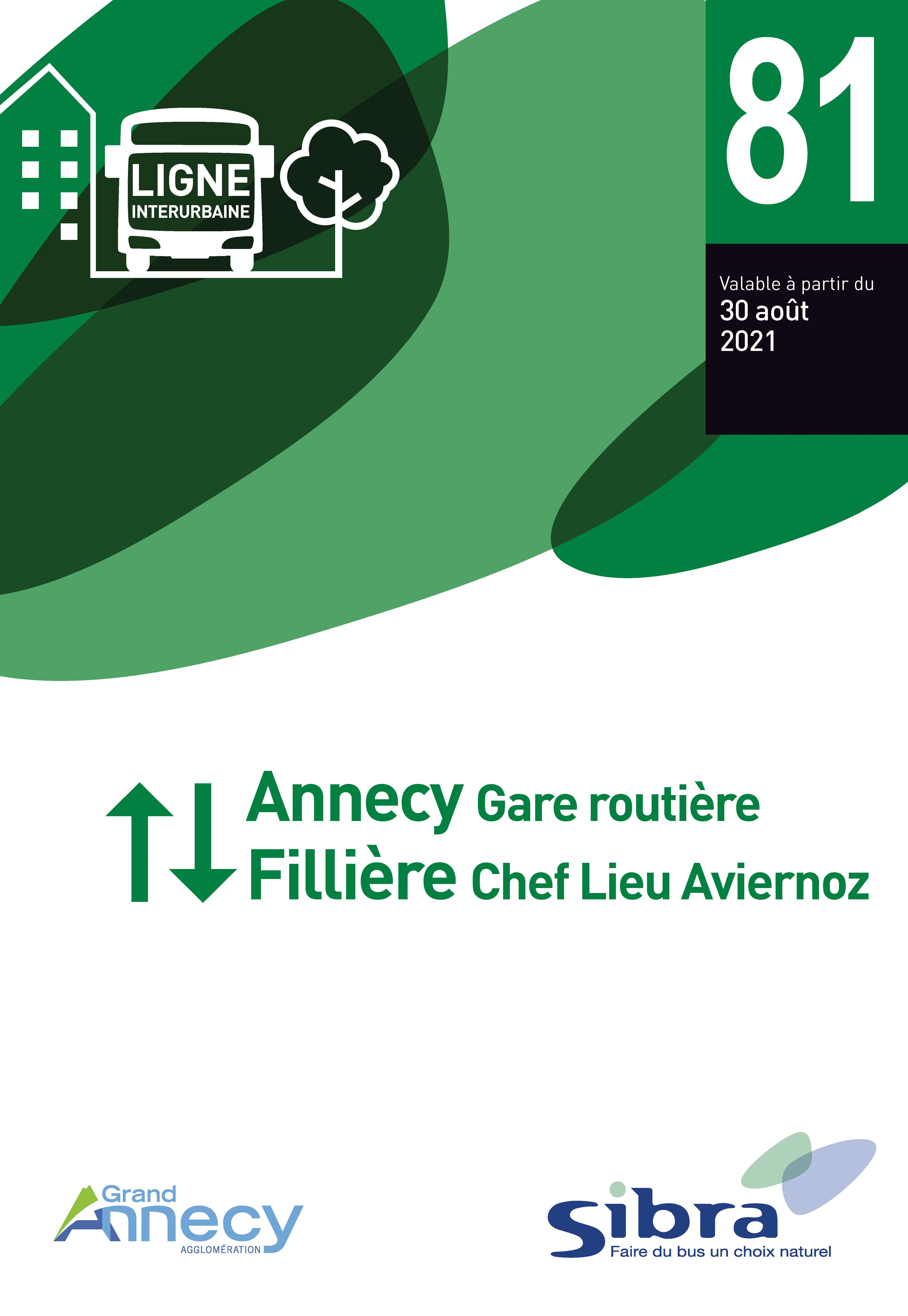 Couverture Fiche Horaire Ligne 81 - Août 2021