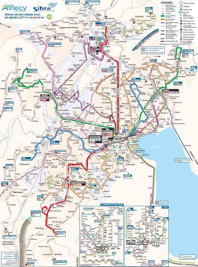 Plan réseau urbain Sibra 2021
