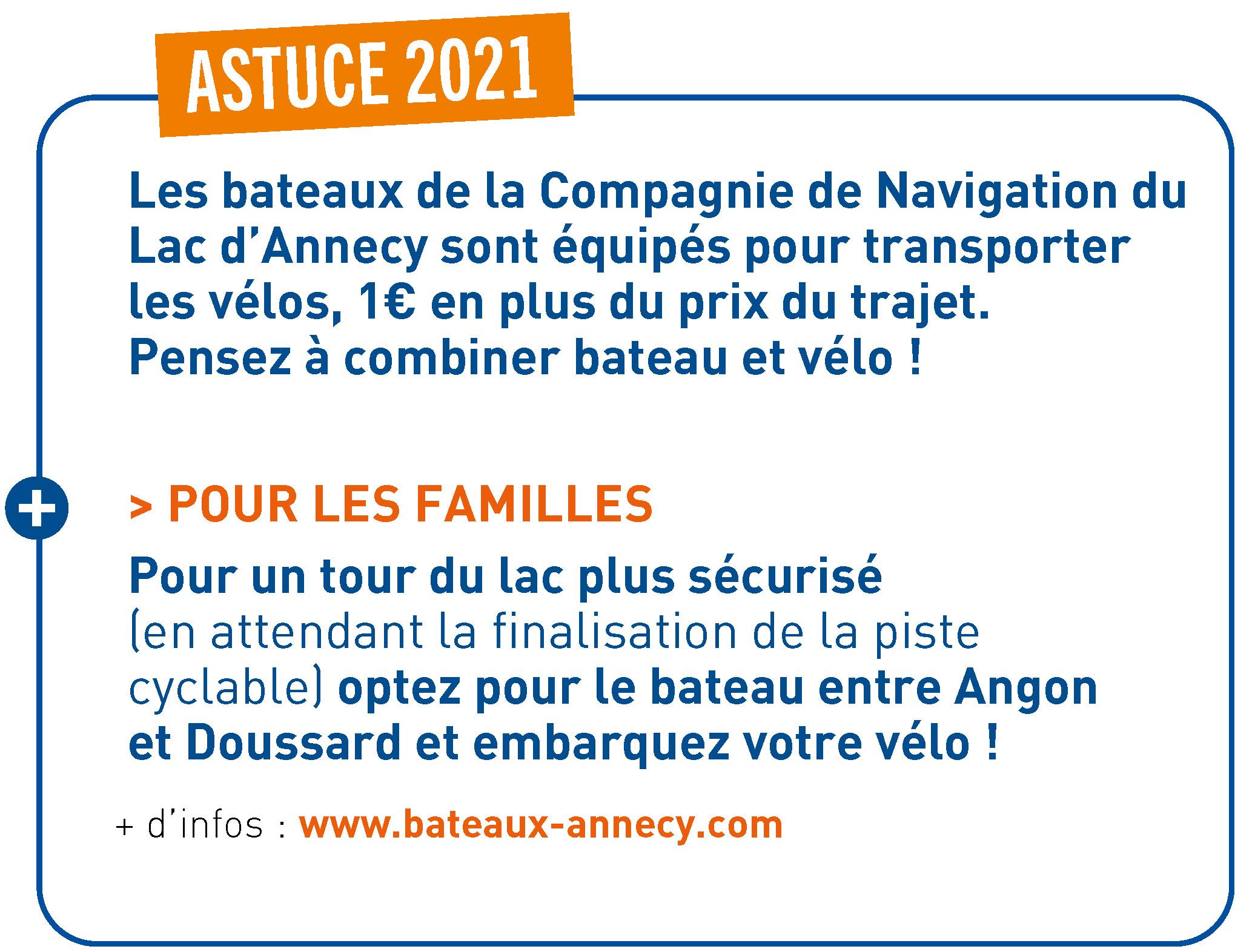 Astuce Vélo + Bateaux - 2021