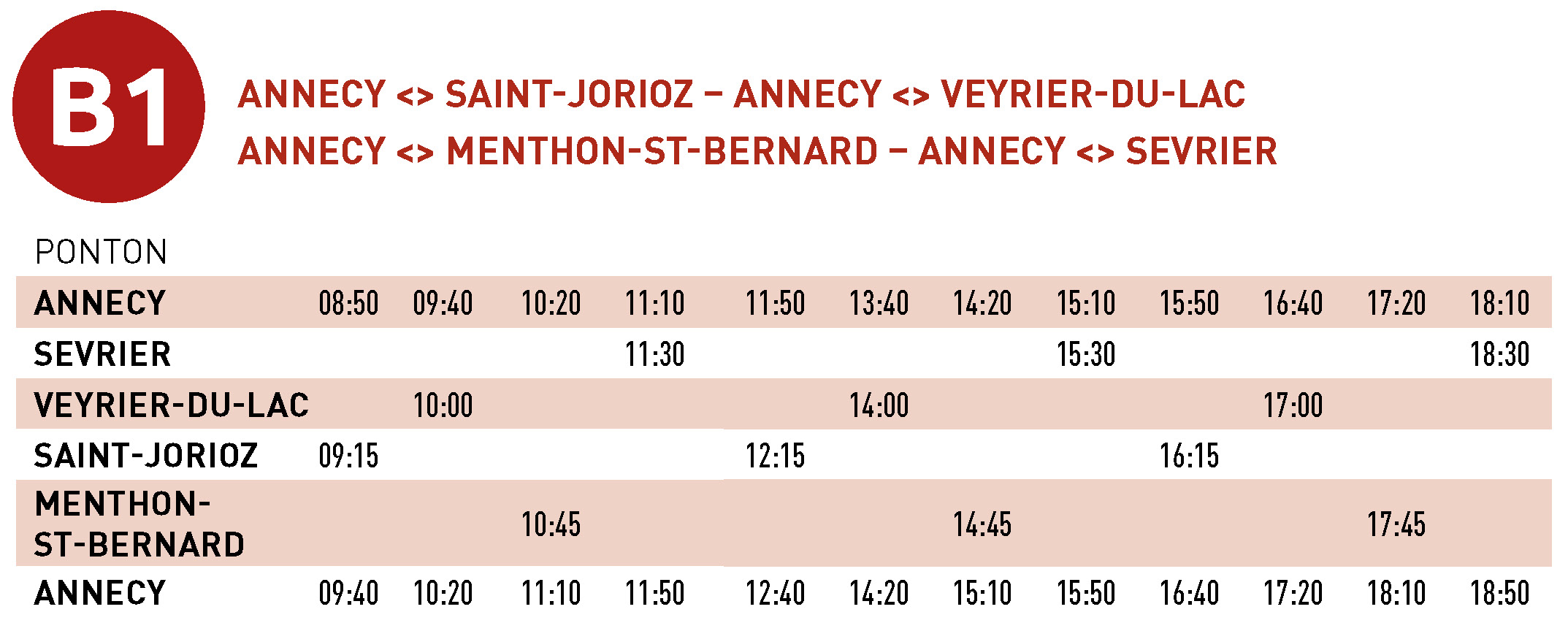 Grille horaire B1 - 2021