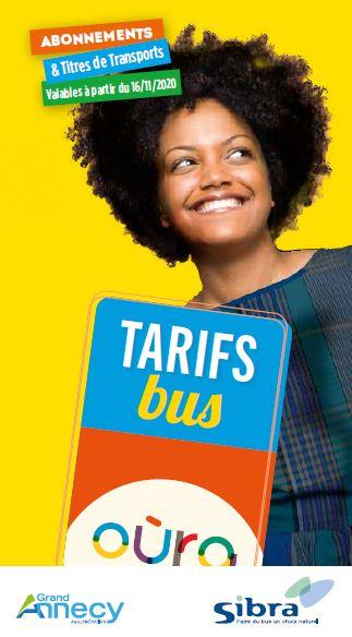 Tarifs Oùra 2020