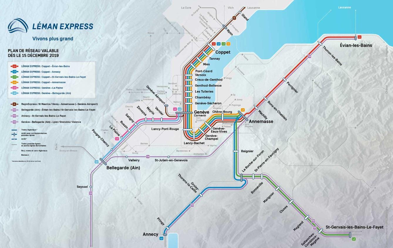 Plan réseau Léman Express 2019