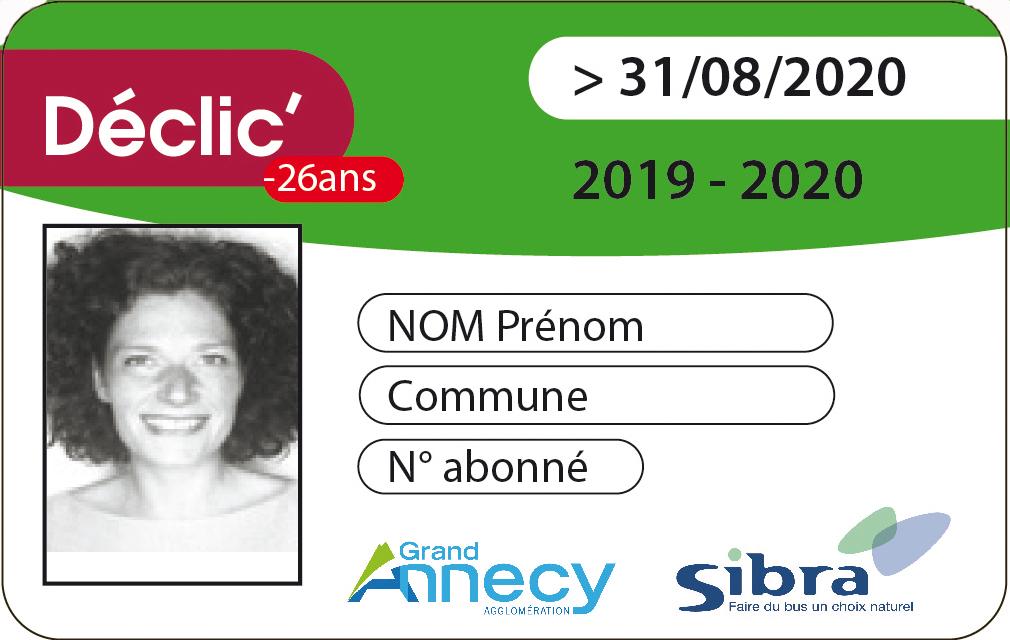 Carte Déclic 2019/2020