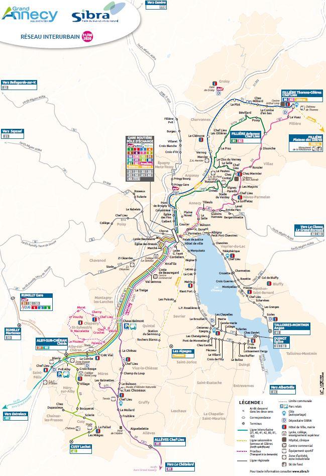 Plan réseau interurbain