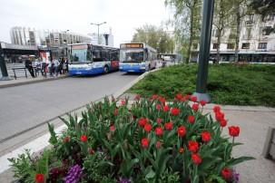 Bus au pôle d'echanges de la Gare